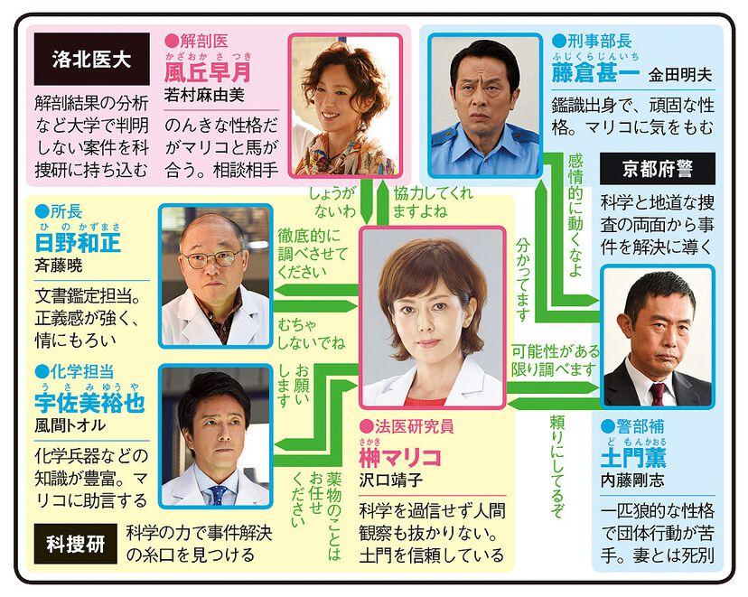 科捜研の女17のドラマ相関図